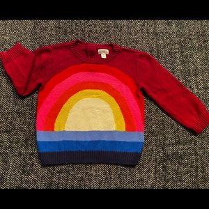 Gymboree rainbow sweater size 2T